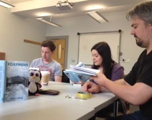 Polo helps the cast of Foxfinder run through their lines for opening night in June